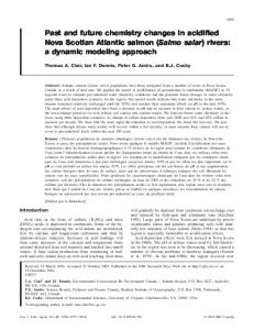 Past and future chemistry changes in acidified Nova Scotian Atlantic ...