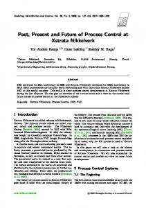Past, Present and Future of Process Control at Xstrata Nikkelverk