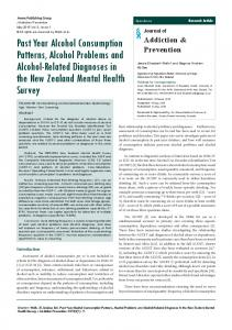 Past Year Alcohol Consumption Patterns, Alcohol Problems and ...