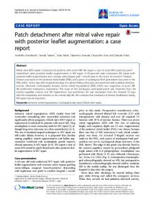 Patch detachment after mitral valve repair with