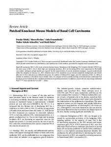 Patched Knockout Mouse Models of Basal Cell Carcinoma