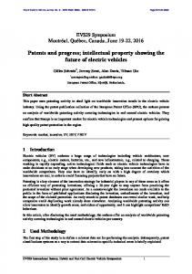 Patents and progress; intellectual property showing the future ... - MDPI