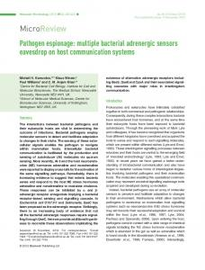 Pathogen espionage: multiple bacterial ... - Wiley Online Library