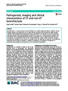 Pathogenesis, imaging and clinical characteristics of CF and non-CF ...