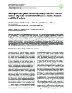 Pathogenic and genetic diversity among Alternaria ...