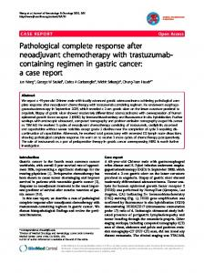 Pathological complete response after neoadjuvant ... - Semantic Scholar
