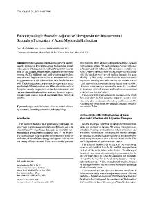 Pathophysiologic bases for adjunctive therapies ... - Wiley Online Library