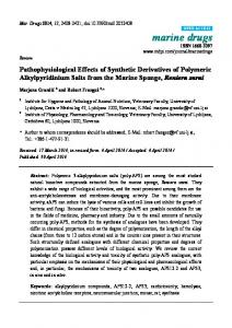 Pathophysiological Effects of Synthetic Derivatives of ... - MDPI