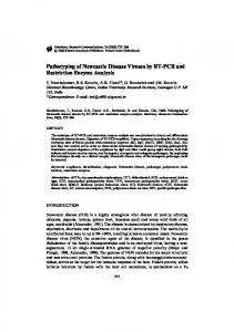 Pathotyping of Newcastle Disease Viruses by RT-PCR ... - Springer Link