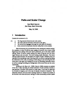 Paths and Scalar Change - Jean Mark Gawron - San Diego State ...
