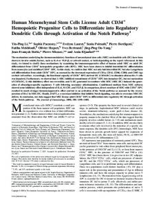 Pathway Cells through Activation of the Notch to Differentiate into ...