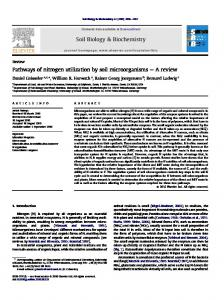 Pathways of nitrogen utilization by soil microorganisms - Agricultural ...