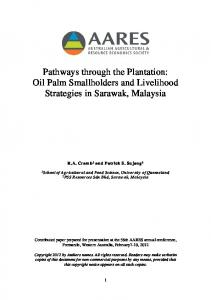 Pathways through the Plantation: Oil Palm ... - AgEcon Search