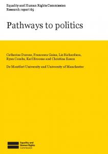 Pathways to politics - Equality and Human Rights Commission