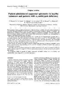 Patient-administered sequential spirometry in healthy volunteers and ...
