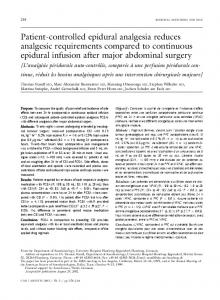 Patient-controlled epidural analgesia reduces ... - Springer Link