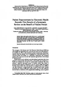 Patient Empowerment by Electronic Health Records - Semantic Scholar