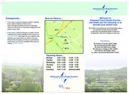 Patient information leaflet - Diamond Court Dental Practice