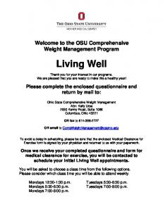 Patient Questionnaire - Ohio State Wexner Medical Center - The Ohio ...