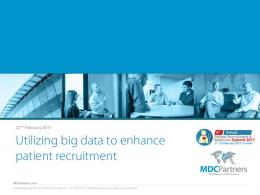 Patient Recruitment and Retention 2017 - MDCPartners
