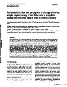 Patient satisfaction and perception of change ...
