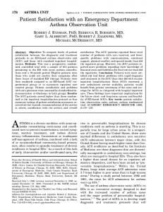 Patient Satisfaction with an Emergency ... - Wiley Online Library