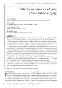 Patients' experience of pain after cardiac surgery