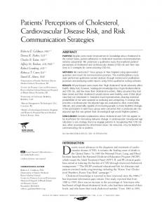 Patients' Perceptions of Cholesterol, Cardiovascular Disease Risk ...