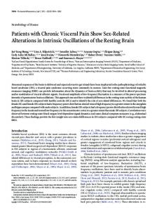 Patients with Chronic Visceral Pain Show Sex-Related Alterations in ...