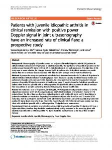 Patients with juvenile idiopathic arthritis in clinical