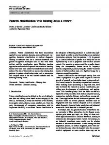 Pattern classification with missing data: a review - Soft Computing and ...