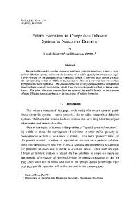 Pattern Formation in Competition-Diffusion Systems in Nonconvex ...
