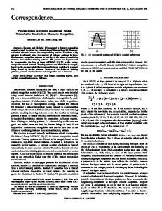 Pattern Fusion In Feature Recognition Neural Networks ... - IEEE Xplore