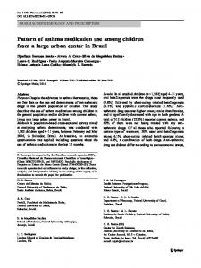 Pattern of asthma medication use among children from ... - Springer Link