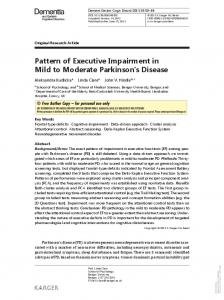 Pattern of Executive Impairment in Mild to Moderate ...