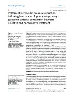 Pattern of intraocular pressure reduction following ... - BioMedSearch