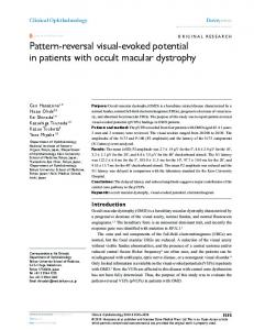 Pattern-reversal visual-evoked potential in patients with occult macular ...