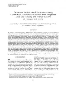 Patterns of Antimicrobial Resistance Among ... - PubAg - USDA