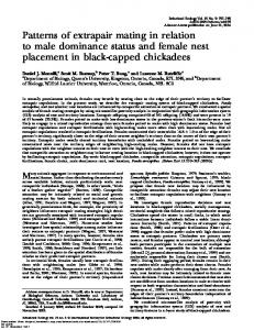 Patterns of extrapair mating in relation to male dominance status ...