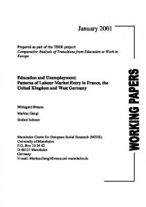 patterns of labour market entry in France, the United Kingdom ... - Mzes