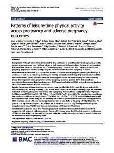 Patterns of leisure-time physical activity across pregnancy and ...