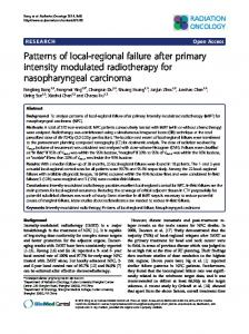Patterns of local-regional failure after primary intensity modulated ...