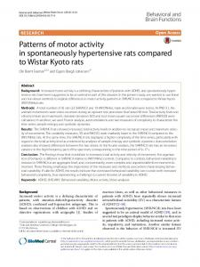 Patterns of motor activity in spontaneously hypertensive rats compared ...