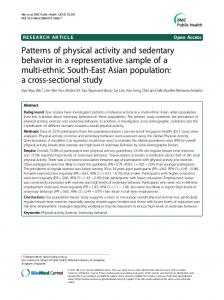Patterns of physical activity and sedentary behavior in ... - Springer Link
