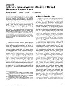 Patterns of Seasonal Variation of Activity of Marbled ... - Forest Service