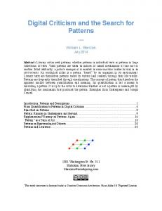 Patterns WP - SSRN papers