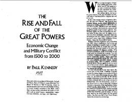 Paul Kennedy - The Rise and Fall of the Great Powers