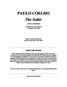 PAULO COELHO The Zahir - WordPress.com