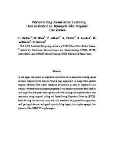 Pavlov's Dog Associative Learning Demonstrated ... - Semantic Scholar
