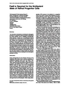 Pax6 Is Required for the Multipotent State of Retinal ... - CyberLeninka